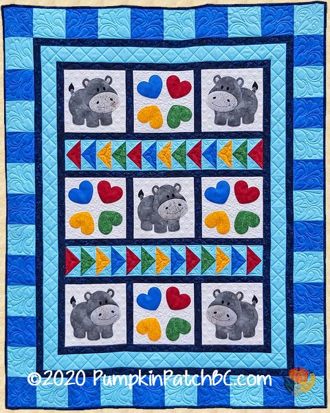 PPP-053 Happy Hippo Hop Quilt